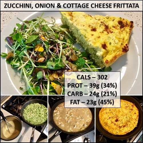 best fritata, cottage cheese frittata, high protein meal, healthy recipe, healthy meal idea, home cooking